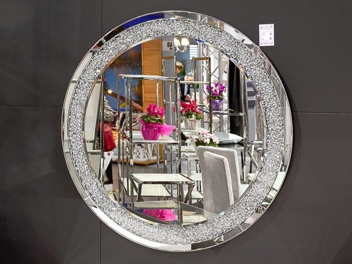 Lustro z kryształkami Angelitta II Glamur Lustro bez ramy Okrągłe Ścienne Pomieszczenie Salon Styl Nowoczesny