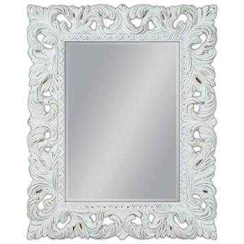 Lustro białe przecierane Barocco 58 Glamur