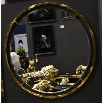 Lustro złote okrągłe CLEO GLAMUR