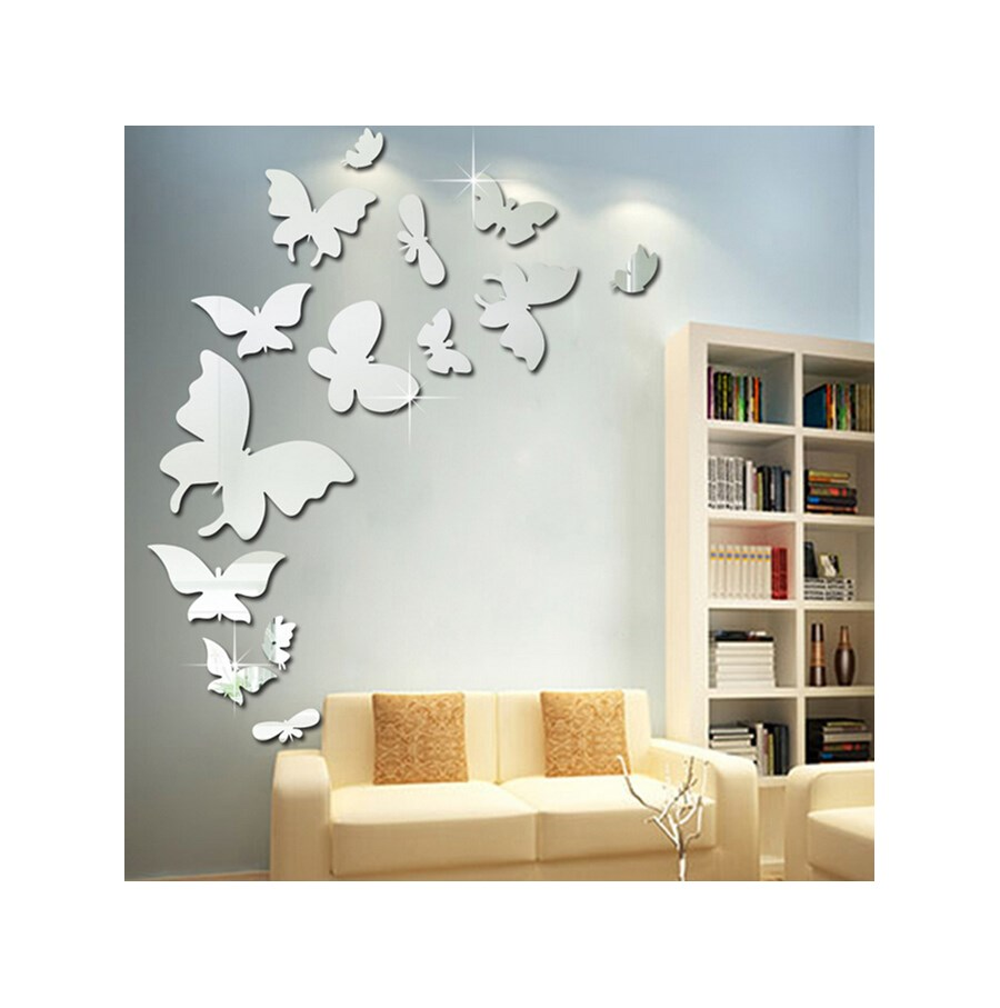 Naklejki Na ścianę Lustrzane Motyle 3d 13szt Ms 0002