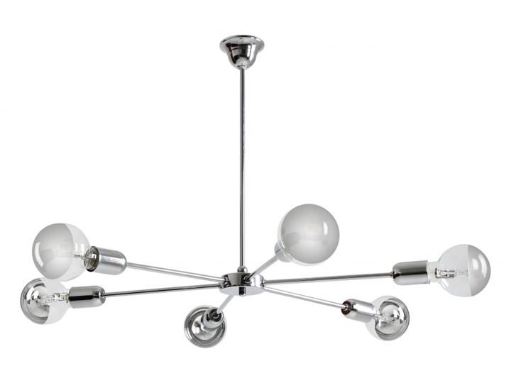 AFTER lampa wisząca 6 x 60W E27 nowoczesny żyrandol pająk srebrny loftowy ALDEX 952K4