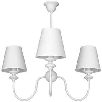RAFAELLO lampa wisząca 3 x 40W E14 sufitowa abażurowa biała prowansja żyrandol ALDEX 932E