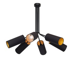 TUTTO lampa wisząca 6 x 40W E14 zwis sufitowa czarna nowoczesna czarne tuby abażurowa ALDEX 913K