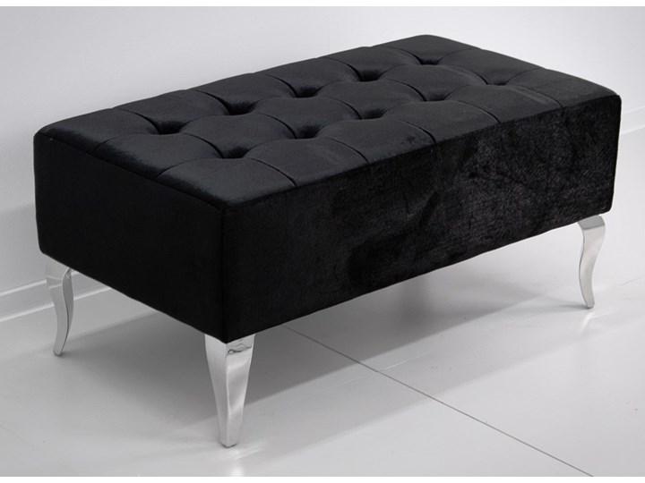 Pufa Estillo Glamur Black 90/50 kryształki