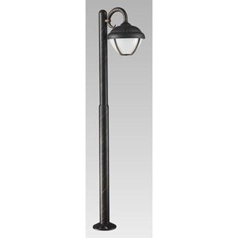 NEBRASKA LED lampa stojąca 1 x 7W LED 3000K 600LM słupek ogrodowy ledowy stylowy zewnętrzny czarny PREZENT 39019
