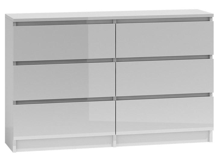 Nowoczesna komoda Marea 120 cm - biała Wysokość 77 cm Płyta MDF Z szufladami Głębokość 30 cm Pomieszczenie Salon Kategoria Komody
