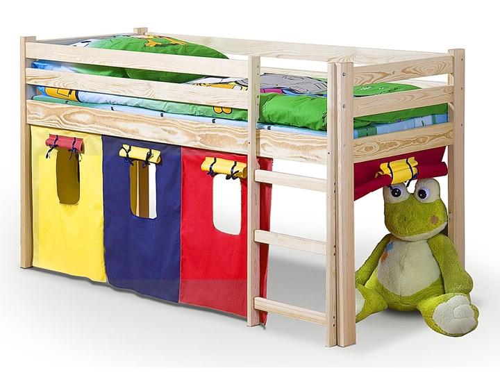 drewniane łóżko piętrowe melis naturalny Wysokość 115 cm