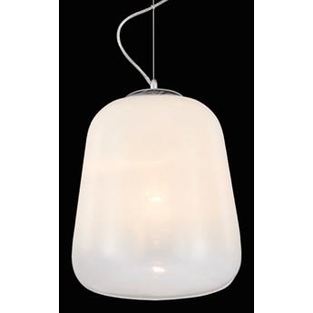 DOVER lampa wisząca 1 x 60W E27 nowoczesna szklana biała zwis PREZENT 46079