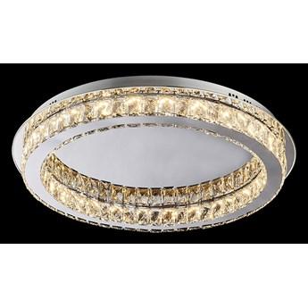 MOVIDA lampa przysufitowa 1 x 24W LED 3000K 1920LM kryształowa lampa sufitowa płaska nowoczesna ledowa okrą PREZENT 62401