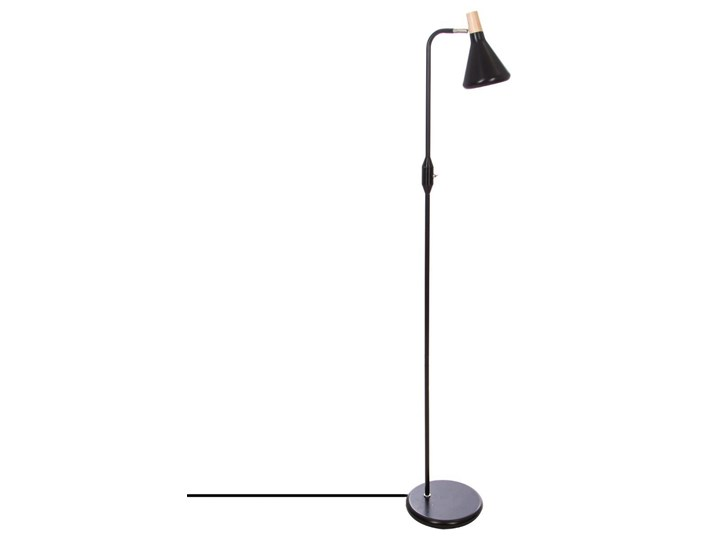 Metalowa lampa podłogowa ATMOSPHERA w kolorze czarnym - 140 cm Lampa do czytania