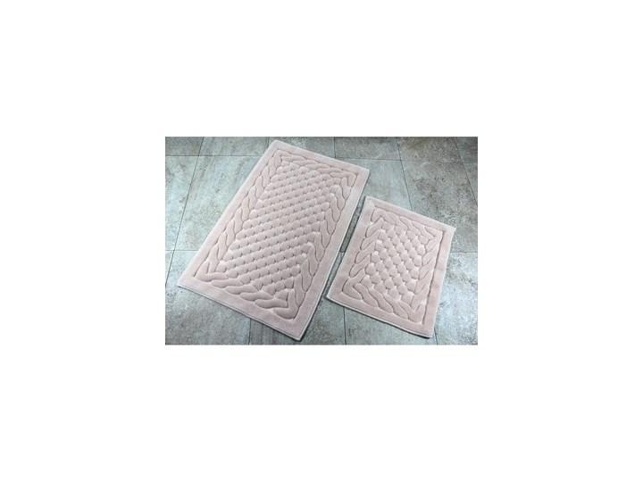 Zestaw 2 dywaników łazienkowych Alessia Bambi Powder 50x60 cm Prostokątny 60x100 cm Kategoria Dywaniki łazienkowe Kolor Beżowy