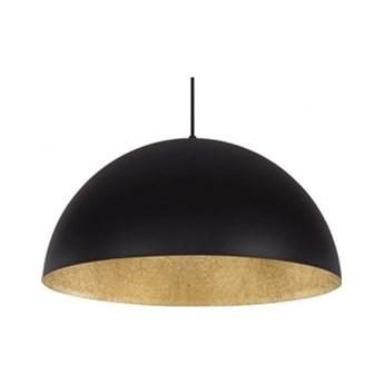 LAMPA wisząca SFERA 50cm 30137 SIGMA klasyczna OPRAWA nad stół ZWIESZANA kopuła czarny/złoty