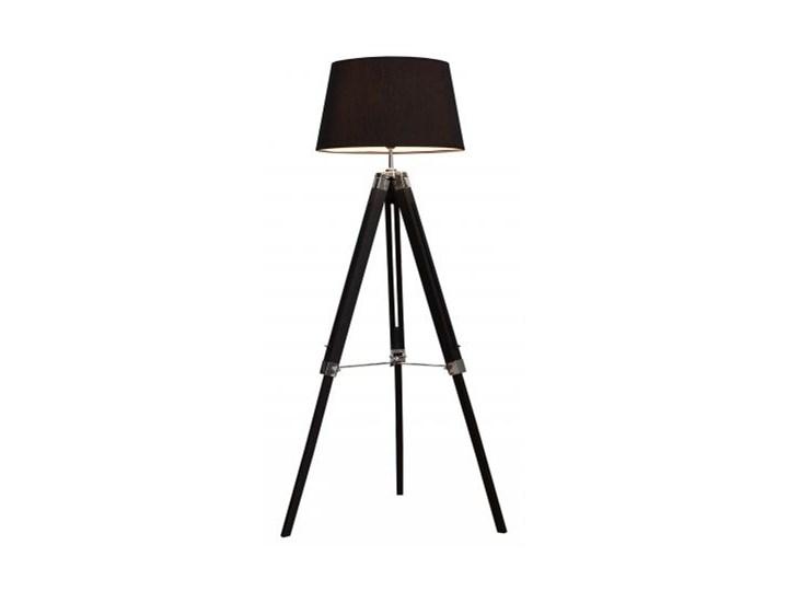 Lampa podłogowa Sylt 99-143cm z litego drewna czarnego
