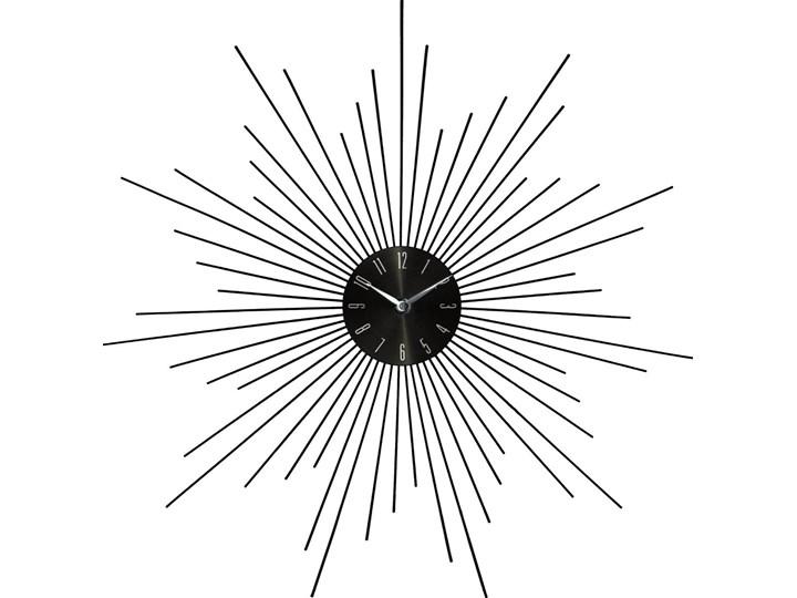 Zegar ścienny SUN w kolorze czarnym, okrągły - Ø50 cm