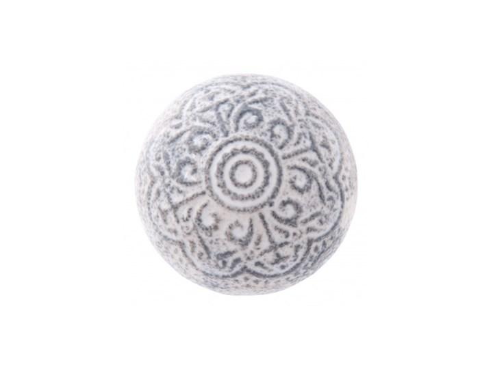 Gałka Do Mebli Ceramiczna Szaro Biała