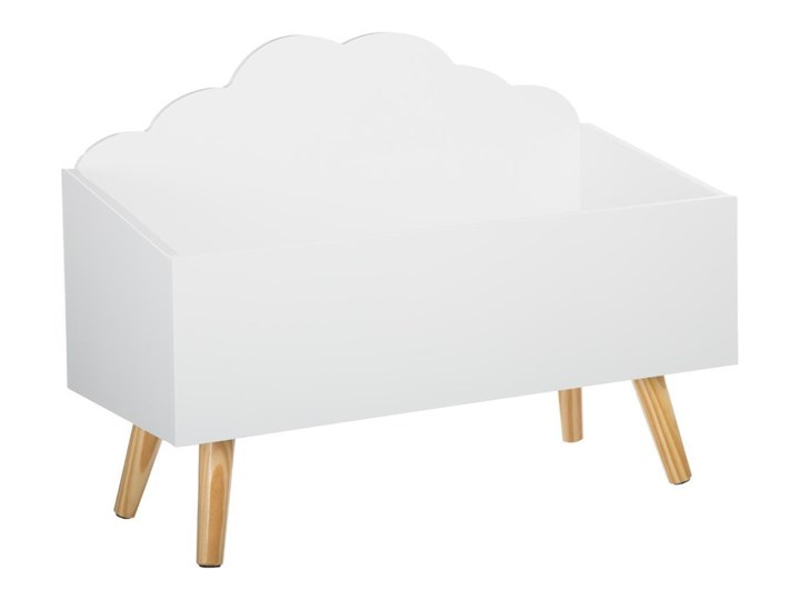 SCHOWEK, kufer na zabawki - kolor biały, 58 x 28 x 45 cm
