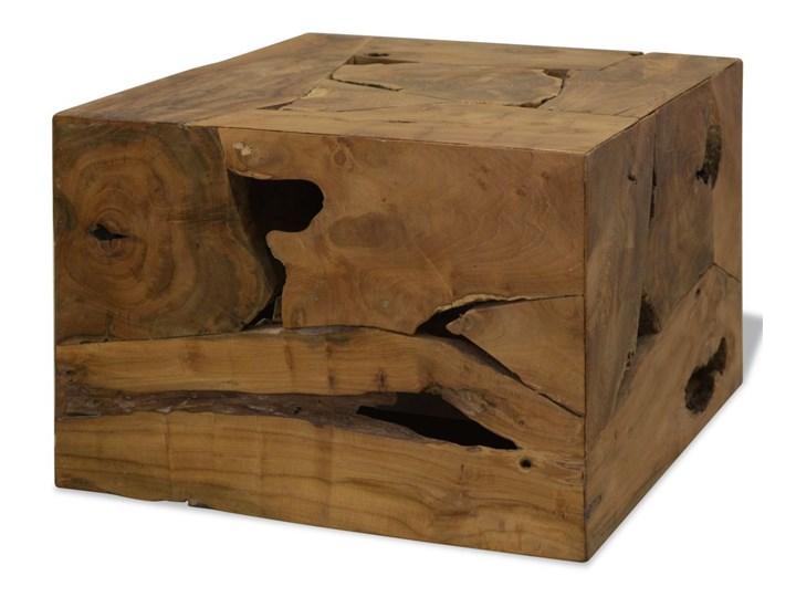 Vidaxl Stolik Kawowy Z Drewna Tekowego 50 X 50 X 35 Cm Brązowy