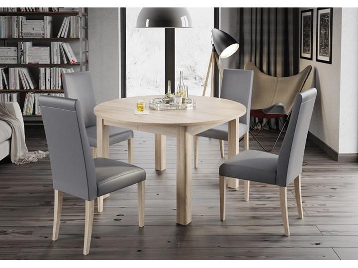 Stół Z 4 Krzesłami Rozkładany Okrągły Dąb Sonoma Stoły Z