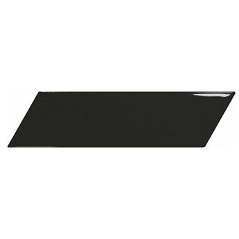 Chevron Wall Black Brillo Left 18,6x5,2