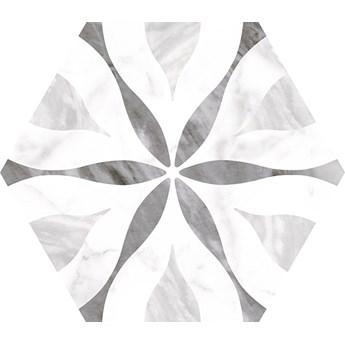 Bardiglio Hexatile Flower 17,5x20