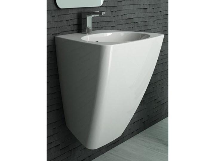 Umywalka Iko 52,5x47,5 Podwieszane Ceramika Szerokość 53 cm Asymetryczne