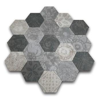 Hexagon Patchwork Cold 25x22