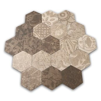 Hexagon Patchword Warm 25x22