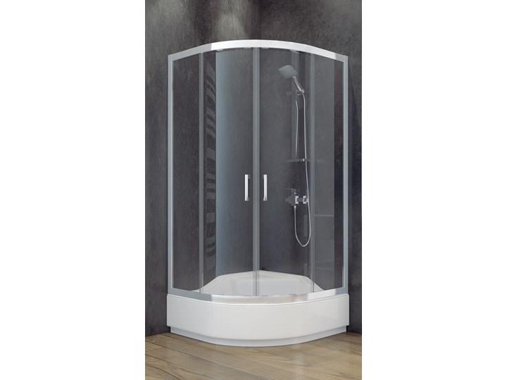 Kabina prysznicowa półokrągła Modern 90x90x165 Szerokość 90 cm