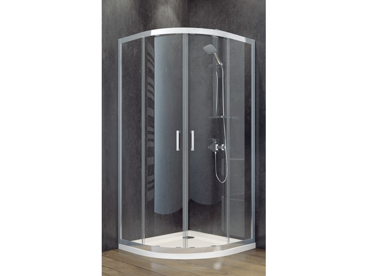 Kabina prysznicowa półokrągła Modern 80x80x185 Szerokość 80 cm
