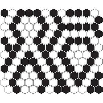 Mini Hexagon B&W Lace 26x30