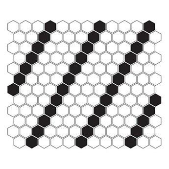 Mini Hexagon B&W Lean 26x30