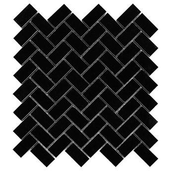 PURE BLACK HERRINGBONE 48 30,5x30,5