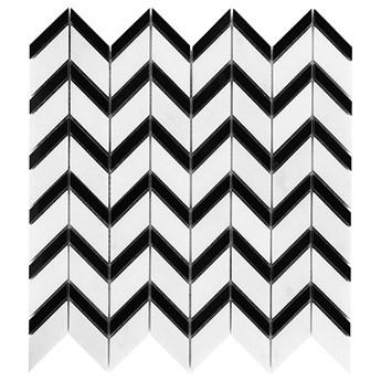 Pure White Chevron 31x30,5 mozaika