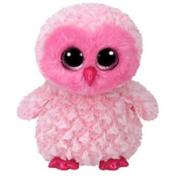 Maskotka TY INC Beanie Boos  Twiggy - Różowa sowa 15cm 36896