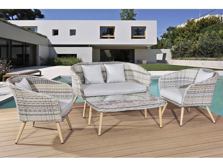 Nowoczesne meble z technorattanu ANTICO sofa 3 osobowa Zestawy wypoczynkowe Tworzywo sztuczne Aluminium Styl Nowoczesny