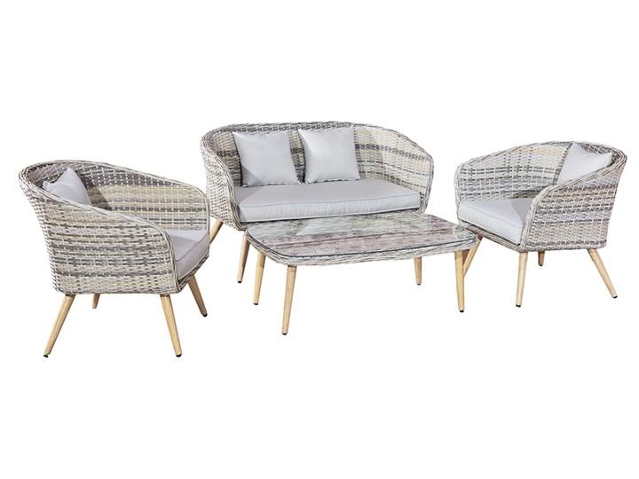 Nowoczesne meble z technorattanu ANTICO sofa 3 osobowa Tworzywo sztuczne Zawartość zestawu Stolik Zestawy wypoczynkowe Aluminium Kategoria Zestawy mebli ogrodowych