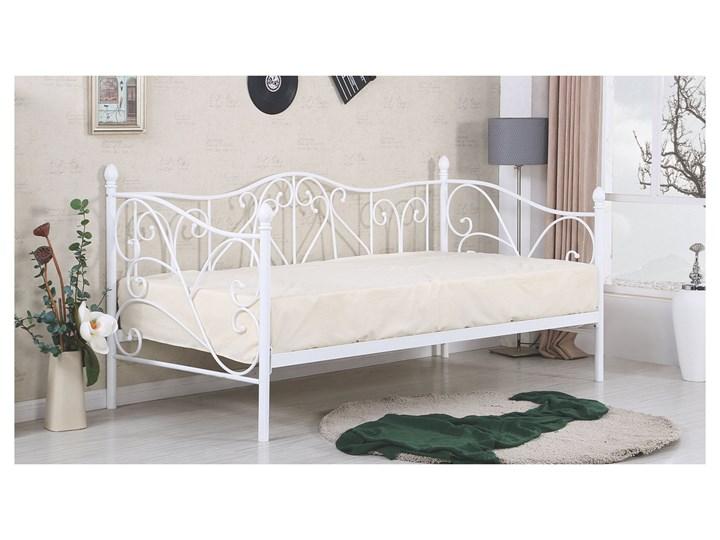 24h łóżko Metalowe 90 X 200 Sumatra Halmar Biały
