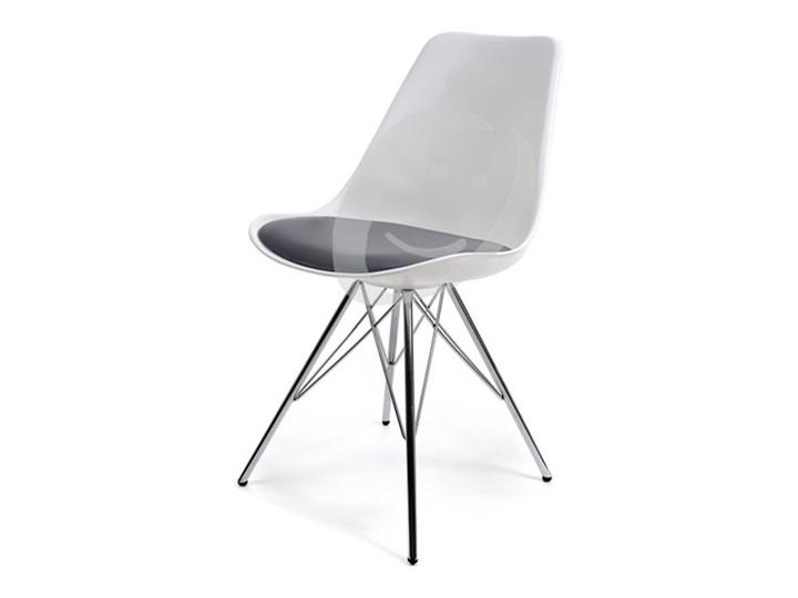 Krzeslo Do Jadalni Plastikowe Drago Bialo Szare Krzesla