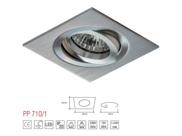 LM 710/1 OPRAWA HALOGENOWA LED WPUSZCZANA OCZKO REGULOWANA ALUMINIUM DRAPANE MR16 GU10 GU5,3