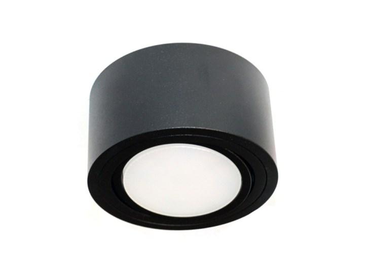 LM P 100 BK PLAFON NOWOCZESNA LAMPA SUFITOWA OPRAWA NATYNKOWA 12 CM ALUMINIUM CZARNY GX53 LED NISKI