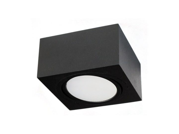 LM P 101 BK PLAFON NOWOCZESNA LAMPA SUFITOWA OPRAWA NATYNKOWA 12x12 CM ALUMINIUM CZARNY GX53 LED NISKI