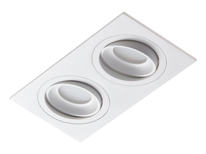 LM 826/2 WH OPRAWA HALOGENOWA WPUSZCZANA REGULOWANA OCZKO ALUMINIUM BIAŁY PAR16 MR16 GU10 230V LED Prostokątne Oprawa stropowa Oprawa led Oprawa wpuszczana Kategoria Oprawy oświetleniowe