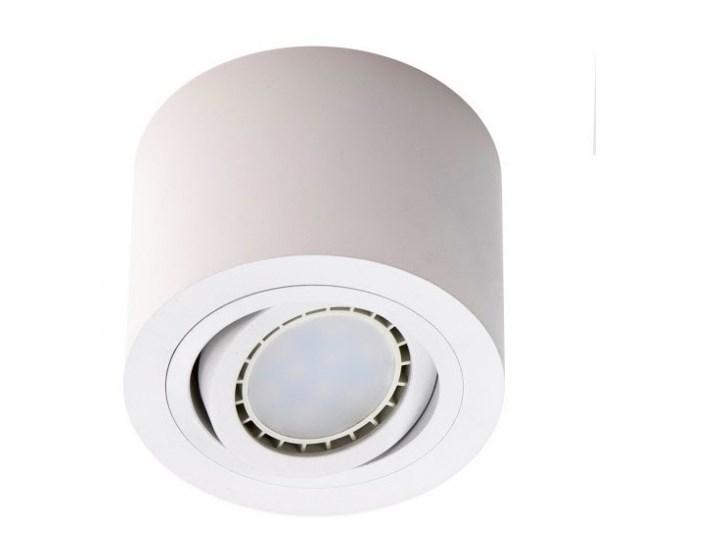 LM P 900 WH PLAFON NOWOCZESNA LAMPA SUFITOWA OPRAWA NATYNKOWA 12 CM ALUMINIUM BIAŁY QR70 LED