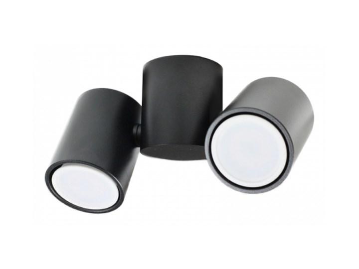 LM P 1327/2 BK REFLEKTOR NOWOCZESNA LAMPA SUFITOWA OPRAWA NATYNKOWA ALUMINIUM CZARNY GU10 LED