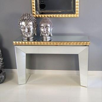 Lustrzana konsola z lustrem w  komplecie, styl modernistyczny.