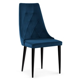 Krzesło LOREN VEVET granat /czarne metal