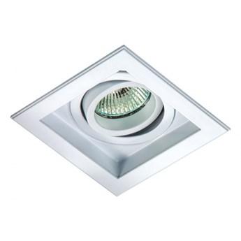 PP Design 701/1 WH OPRAWA HALOGENOWA LED WPUSZCZANA OCZKO REGULOWANA ALUMINIUM BIAŁY MR16 GU10 GU5,3