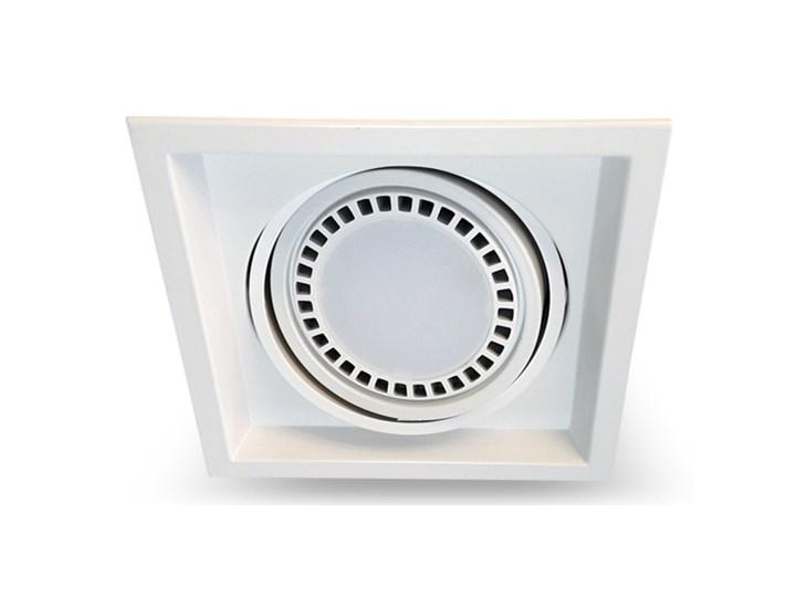 PP Design 650/1 OPRAWA HALOGENOWA LED WPUSZCZANA POJEDYNCZA REGULOWANA METAL BIAŁY ES111 QR111 AR111 GU10 G53