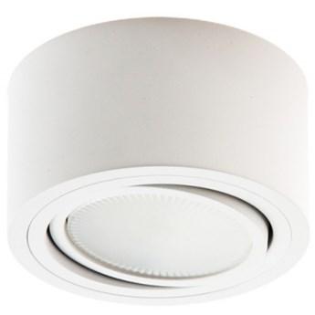 PP Design P 100 WH PLAFON NOWOCZESNA LAMPA SUFITOWA OPRAWA NATYNKOWA 12 CM ALUMINIUM BIAŁY GX53 LED NISKI