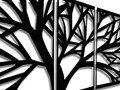 Obraz Trym Czarny 140x70 cm Wzór Natura